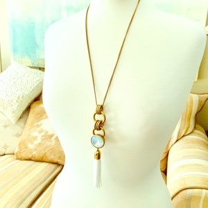 J Crew jeweled tassel necklace